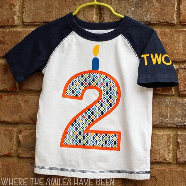 DIY Toddler Birthday Shirt With HTV And Fabric Appliqu