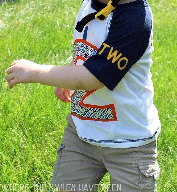 DIY Toddler Birthday Shirt with HTV and Fabric Appliqué   Where The Smiles Have Been