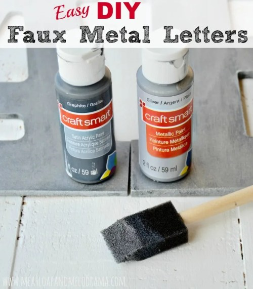 easy diy faux metal letters