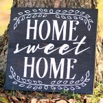 Home Sweet Home Sign with FREE Cut File!