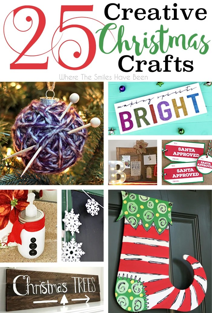 25 Creative Christmas Crafts! | Where The Smiles Have Been