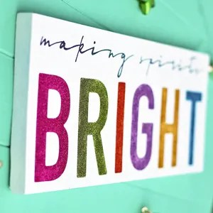 Colorful & Glittery Christmas Sign: Making Spirits Bright!