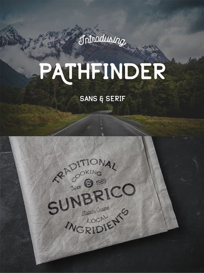 Pathfinder Font: Part of The Hungry JPEG's December Font Bundle! Save 20% with code Smiles20!