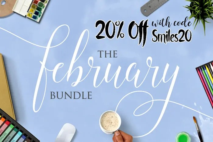 Save 20% off The February Bundle from The Hungry JPEG with code Smiles20!