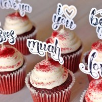 Hand-Scripted Love Cupcake Toppers + FREE Cut File!