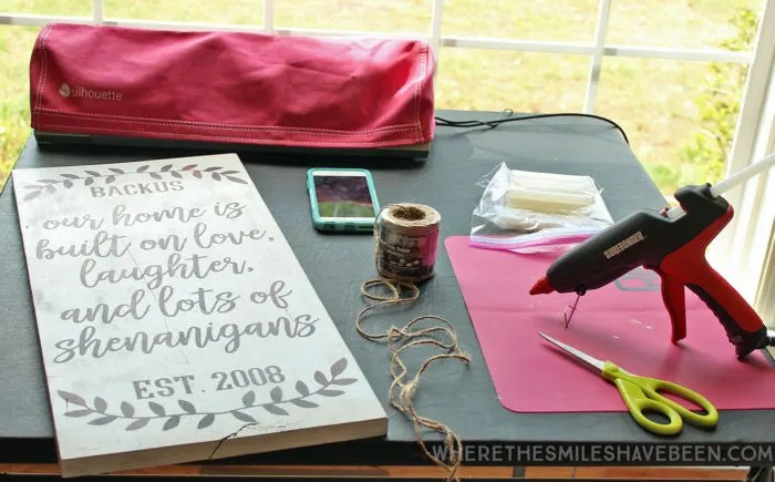 DIY Farmhouse Sign: Personalized Love & Shenanigans   Where The Smiles Have Been