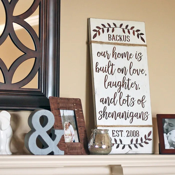 DIY Farmhouse Sign: Personalized Love & Shenanigans