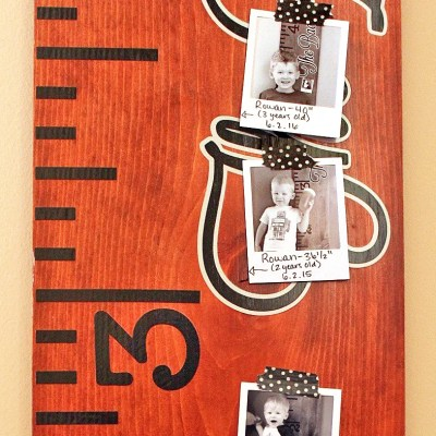 Family Growth Chart Ruler Updated with Yearly Photos!