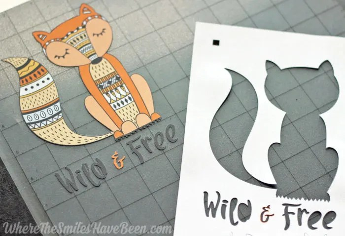 Crafty image inside heat transfer printable vinyl
