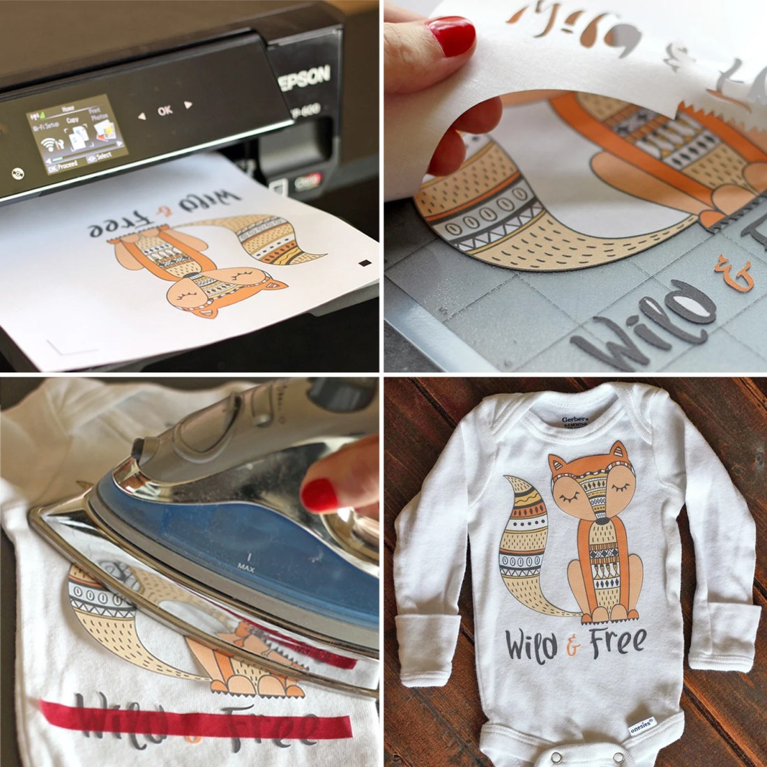 Crazy image within printable heat transfer vinyl