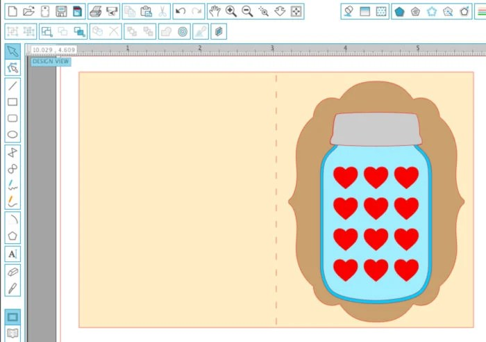 Festive Mason Jar of Hearts Card Tutorial for Silhouette | Where The Smiles Have Been