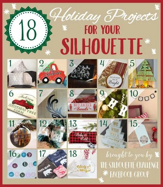 18 Holiday Projects for your Silhouette! #Silhouette #Christmas #DIYChristmas #holidaycrafts #vinyl #HTV #heattransfervinyl #ornament #Christmastree