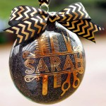Personalized Glitter Hair Stylist Ornament + Silhouette GIVEAWAY!