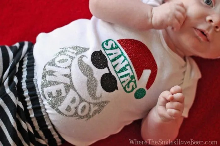 Cool & Hip 'Santa's Homeboy' Christmas Onesie | Where The Smiles Have Been