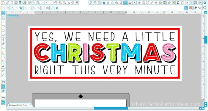 Colorful 'We Need a Little Christmas' Sign   Where The Smiles Have Been