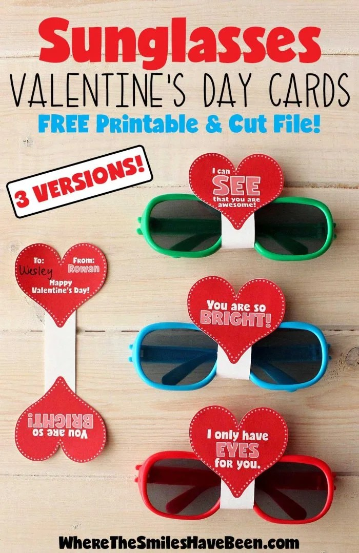 photo relating to Valentines Day Printable named Sungles Valentines Working day Playing cards with No cost Printable Lower Document