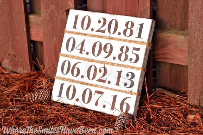 Rustic Farmhouse-Inspired Family Birthday Sign | Where The Smiles Have Been