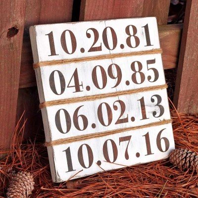 Rustic Farmhouse-Inspired Family Birthday Sign