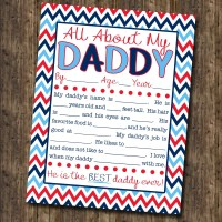 FREE Father's Day 'All About My Daddy' Kid's Interview Printable!