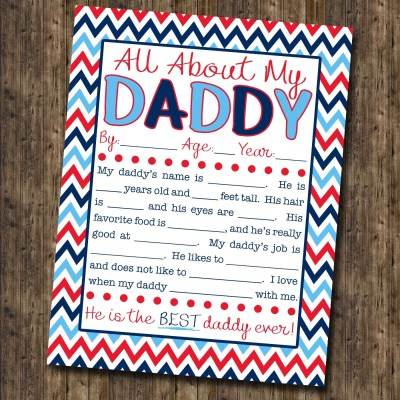 This is the sweetest gift for Father's Day! All About My Daddy Interview with FREE Printable! | Where The Smiles Have Been