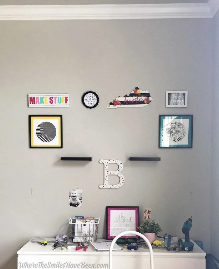Colorful Craft Room Gallery Wall + $100 Erin Condren Giveaway!   Where The Smiles Have Been