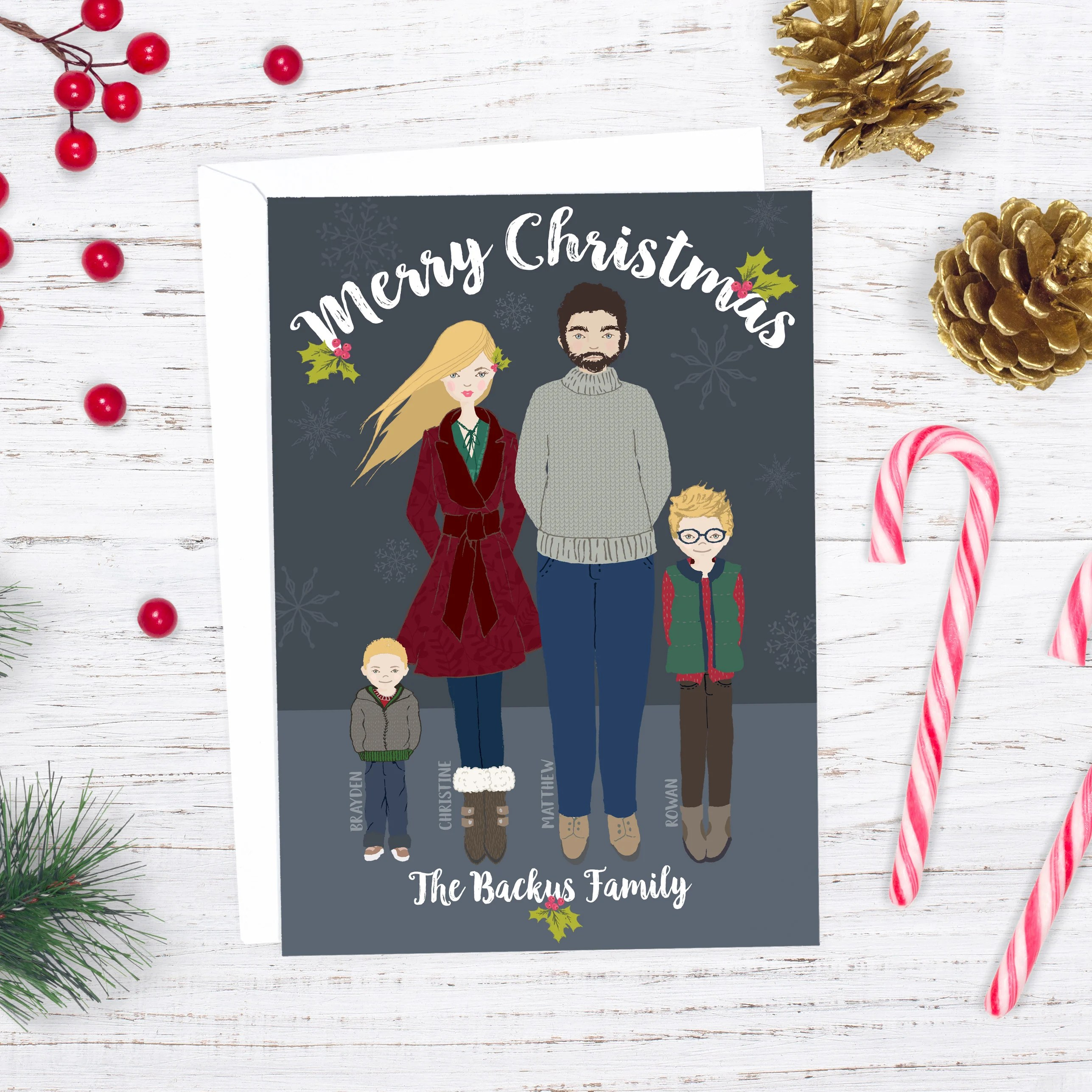 64244db92c0 DIY Whimsical Family Portrait Christmas Card (& How You Can Make Yours)!