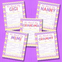 FREE 'All About My Grandma' Printable Interview - EIGHT Versions!