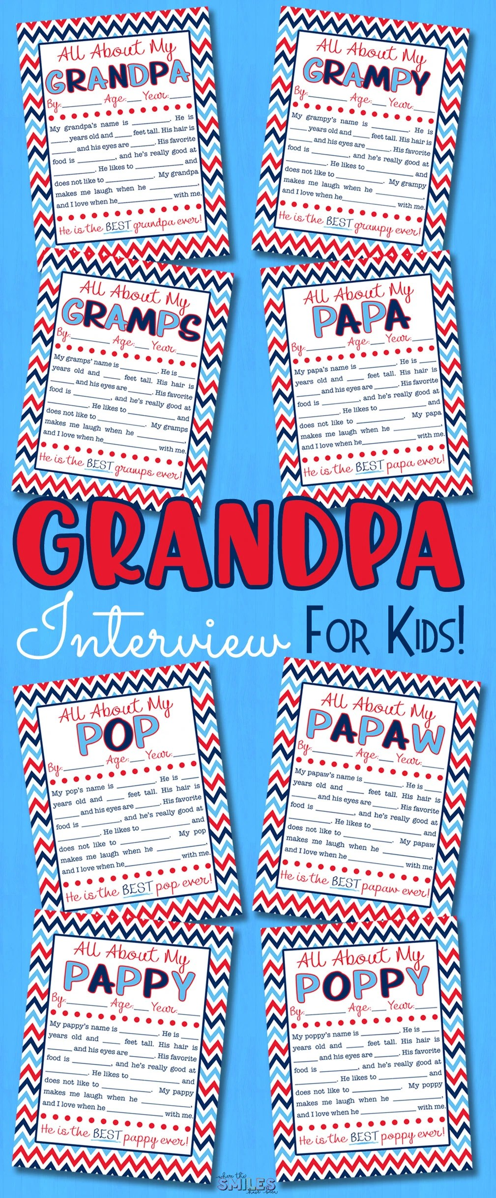 image about All About My Papa Printable known as All With regards to My Grandpa Job interview with Totally free Printable 8
