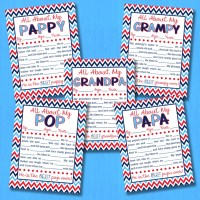 FREE 'All About My Grandpa' Printable Interview - EIGHT Versions!