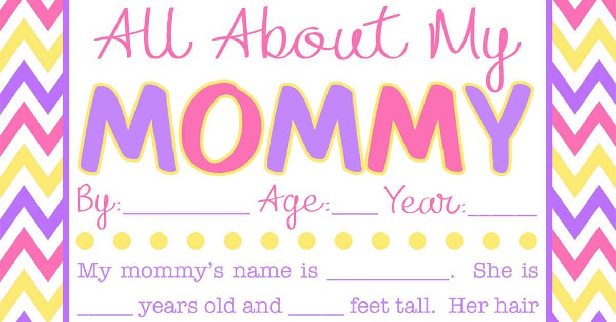 photograph about All About My Mom Printable identified as All Pertaining to My Mommy Job interview with Totally free Printable!