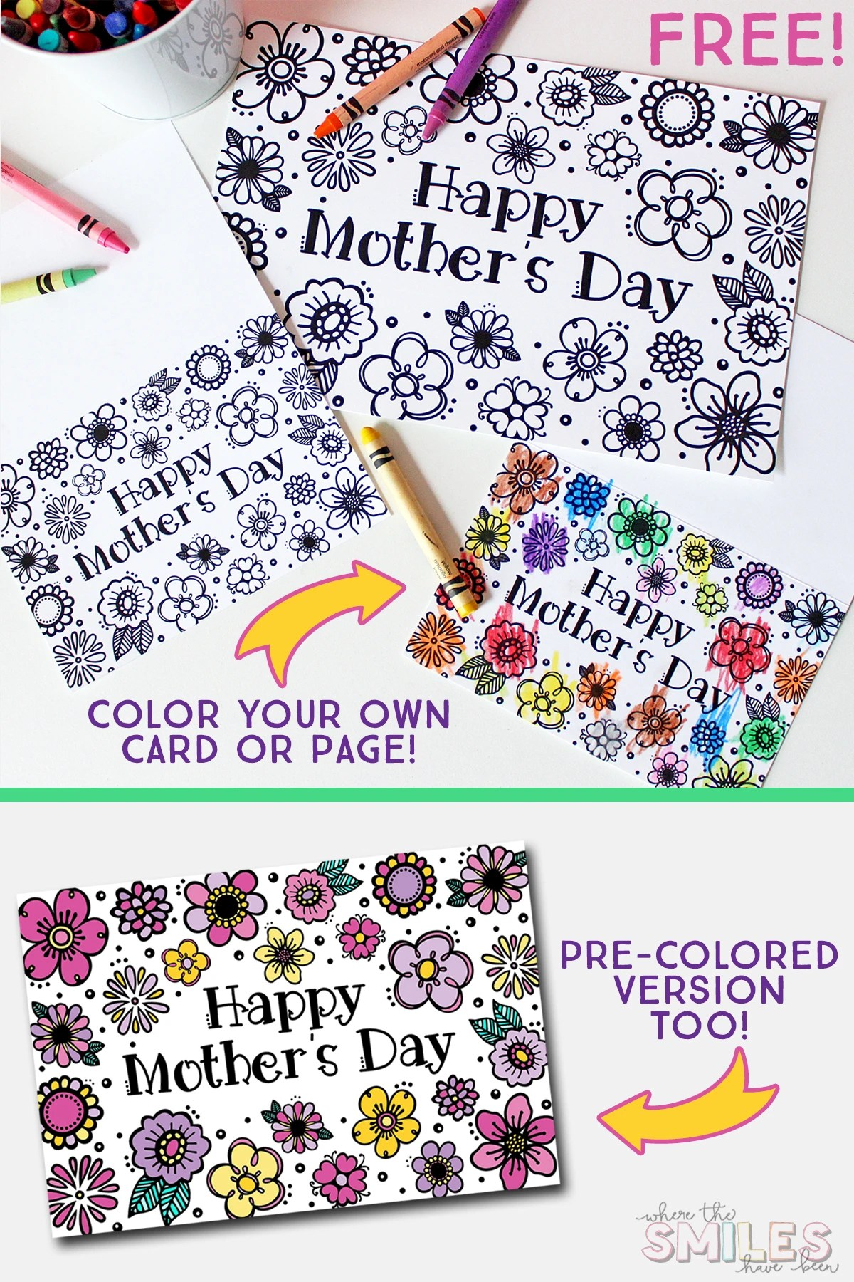 graphic regarding Free Printable Mothers Day Cards to Color identify No cost Printable Moms Working day Coloring Web page Card (Reduce Documents