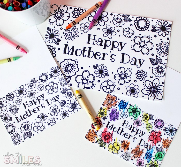 free printable mothers day coloring page card cut files too where