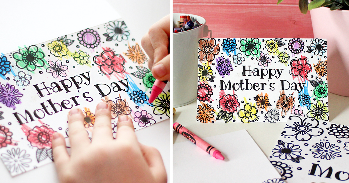 It is a graphic of Printable Mothers Day Cards to Color Pdf throughout coloring