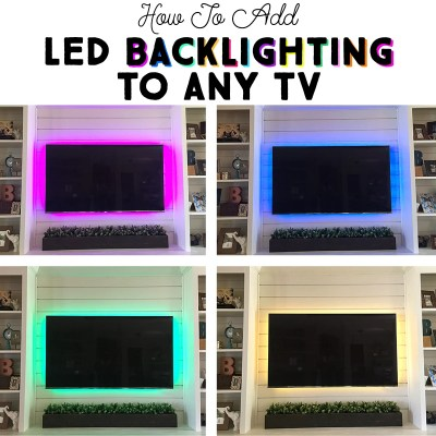 How to Add LED Backlighting to Any TV in Five Minutes!