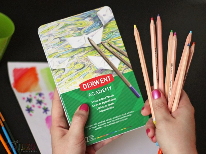 How to Make Watercolor Planner Stickers Using Watercolor Pencils | Where The Smiles Have Been #planner #plannerstickers #watercolor #watercolorpencils #Derwent