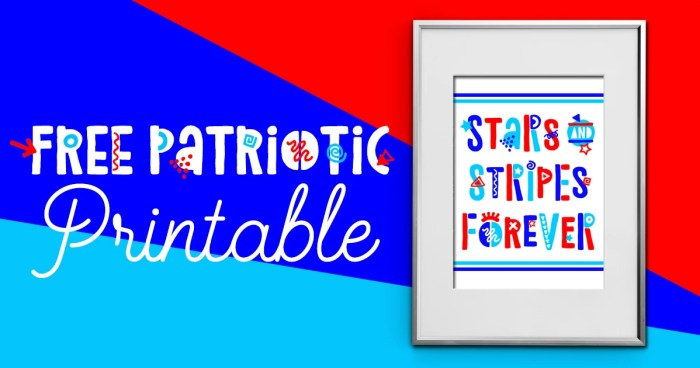 Funky Fourth of July FREE Printable: Stars & Stripes Forever! | Where The Smiles Have Been #printable #freeprintable #FourthOfJuly #4thOfJuly #summer #USA #patrioticdecor