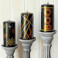 DIY Halloween Candles Using Vinyl Embellishments + FREE Cut Files