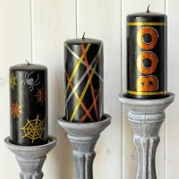 DIY Halloween Candles Using Vinyl Embellishments + FREE Cut Files