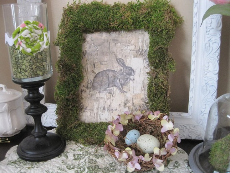 Moss Covered Picture Frame
