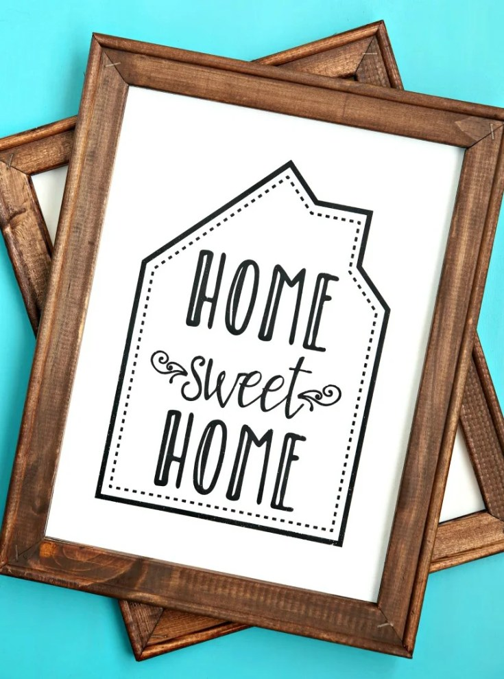 Home Sweet Home Reverse Canvas Sign