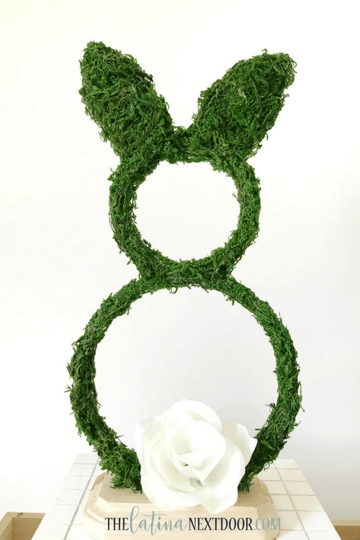 Easter Moss Bunny Mantel Decor