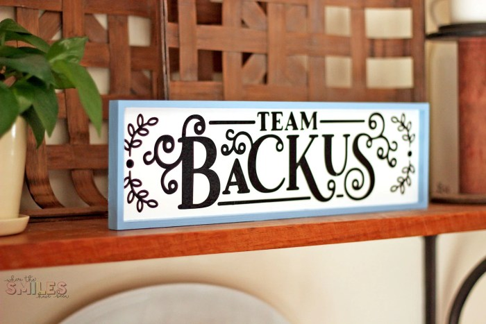 DIY Family Motto Sign: What It Is & Why You Should Have One | Where The Smiles Have Been #family #familymotto #DIY #sign #homedecor #personalized #Silhouette #Cricut #vinyl