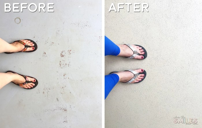 How to Repaint a Porch with Rollable Stone Coating   Where The Smiles Have Been #DIY #homeimprovement #porch #backporch #repaintaporch #howto #video #videotutorial #RollerRock #howtorepaintaporch