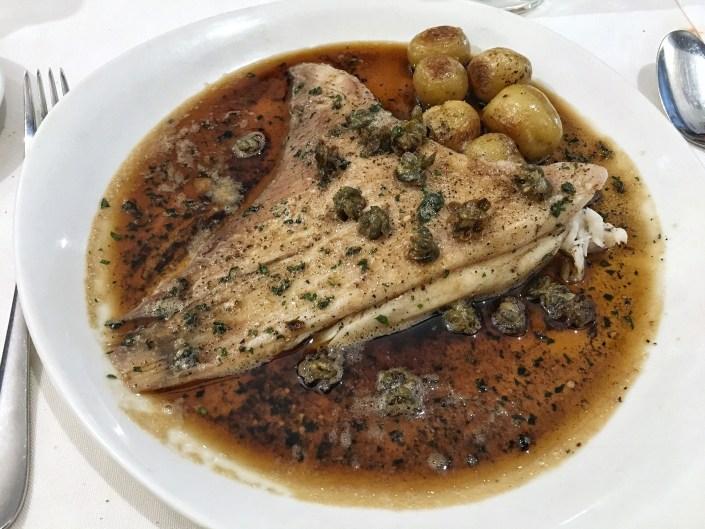 La Buena Vida Madrid Restaurante. Raya. Fish. Pescado.