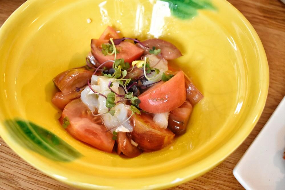 Restaurante Quinqué. Ensalada de tomate