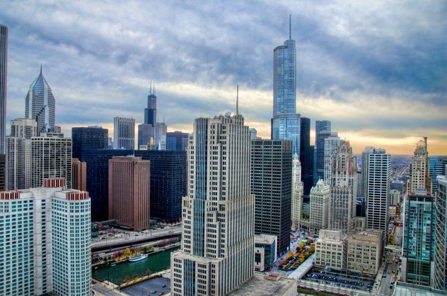 Sunset City Chicago William Woodward