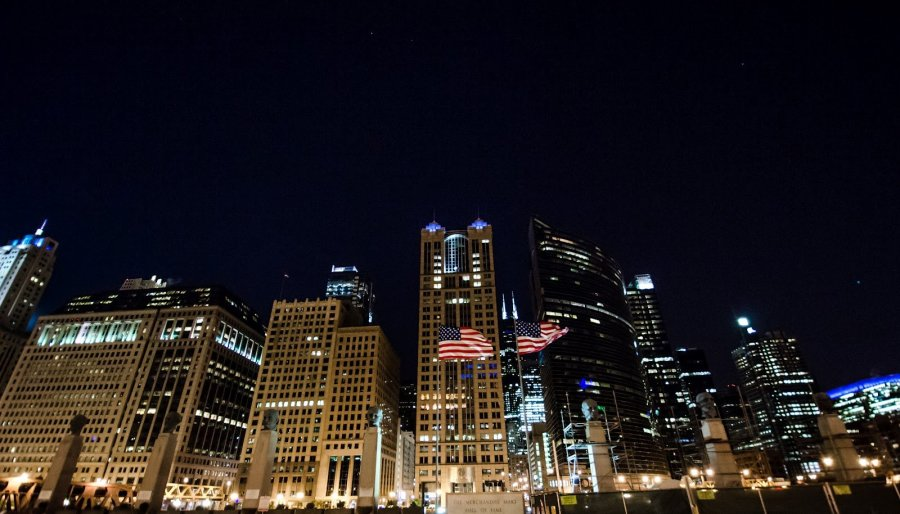 City Nights Chicago William Woodward