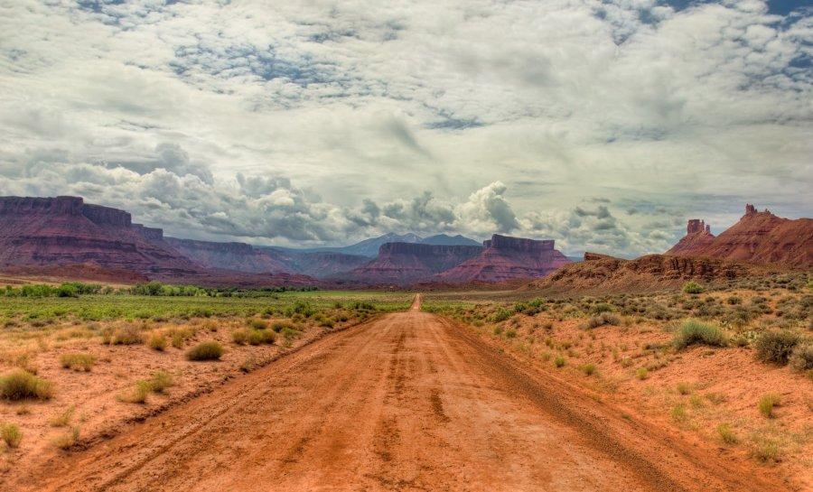 Down the Gravel Road Utah William Woodward