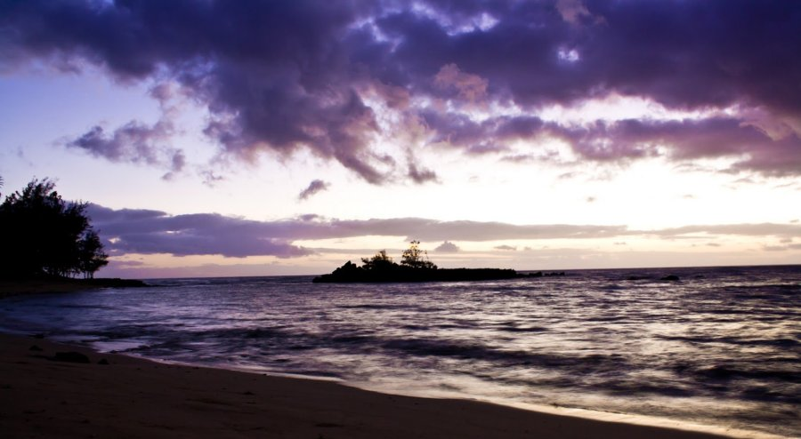 Purples Sunset Oahu William Woodward