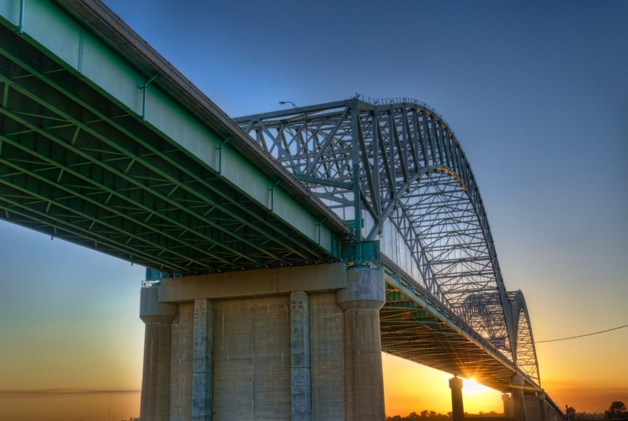 Hernando de Soto Bridge Memphis William Woodward